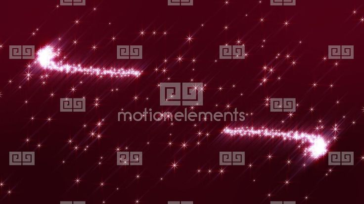Red backround with pink sparkling Stars Stock Video Footage