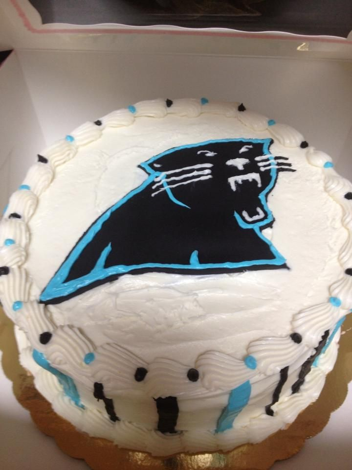 26 Best Images About Carolina Panthers Cakes On Pinterest
