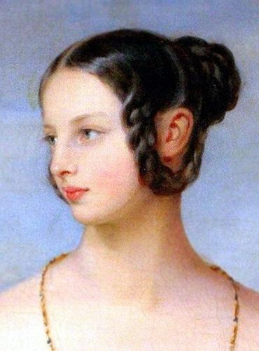 """Grand Duchess Alexandra """"Adini"""" Nikolaevna Romanova (24 Jun 1825-10 Aug 1844) Russia by Christina Robertson. 6th child of Nicholas I Pavlovich Romanov (Nikolai I) (1796-1855) Russia & Charlotte-Alexandra (Alexandra Feodorovna) (1798-1860) Prussia."""