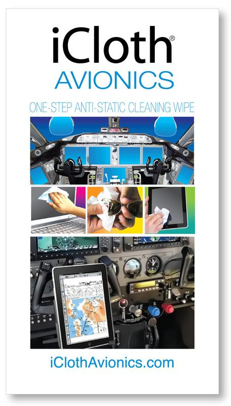 iCloth Avionics Cleaning - individually-wrapped cleaning wipes are designed to instantly clean  flight deck avionics, larger monitors  & multiple touchscreens.  Learn more! #aviation #touchscreen #avionics #avgeek