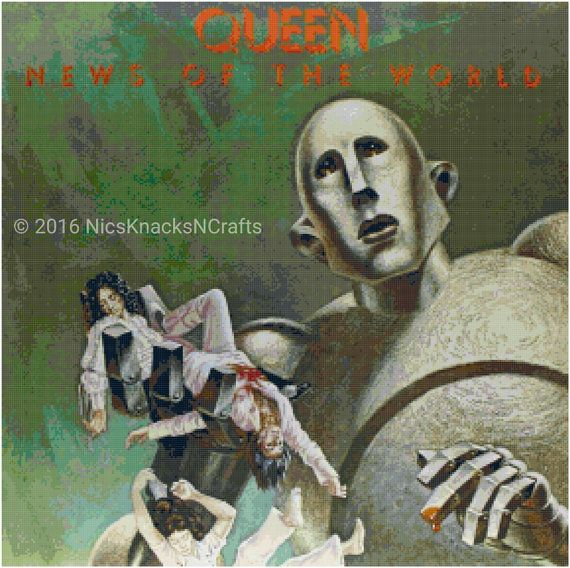 QUEEN: Freddie Mercury Brian May John Deacon Roger Taylor TRACK: 02 Album: News of the World Lyrics: I've paid my dues Time after time I've done my sentence . Greatest Album Covers, Iconic Album Covers, Rock Album Covers, Classic Album Covers, Music Album Covers, Music Albums, Freddie Mercury, Cover Art, Lp Cover