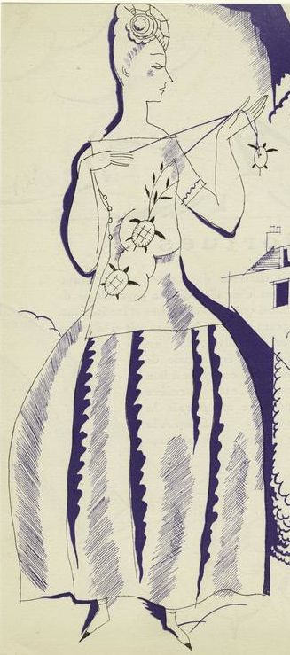 Fashion illustration by Charles Martin (1848-1934), 1921,  From Gazette du bon genre, Paris.