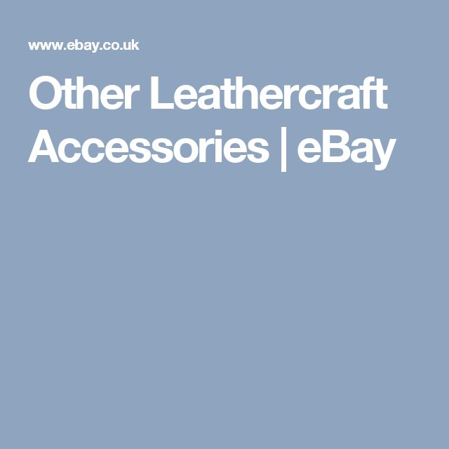 Other Leathercraft Accessories | eBay