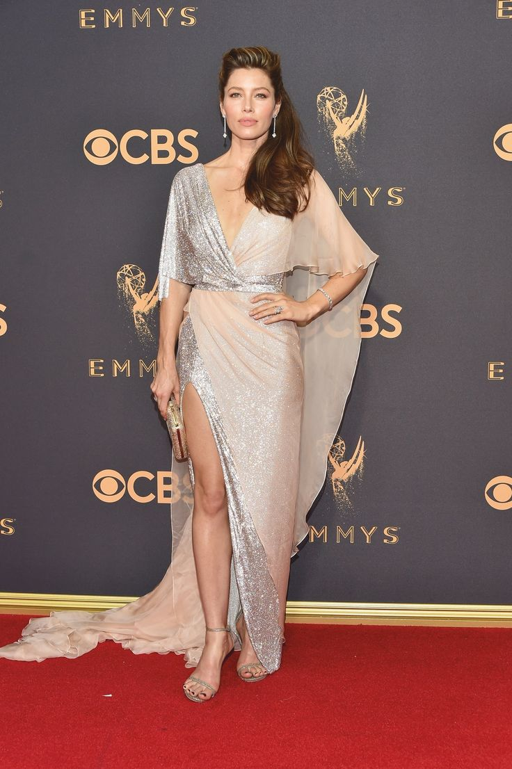 "LOS ANGELES, CA - SEPT 17, 2017: Jessica Biel arrives at the 69th Primetime Emmy Awards on Sunday, Sept. 17, 2017, at the Microsoft Theater in Los Angeles. (Photo by Vince Bucci/Invision for the Television Academy/AP Images) | VIE Magazine - December 2017 | The Sophisticate Issue | ""La Scene: Where It's At"" 