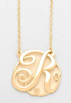 34 best monogram necklaces images on pinterest initial necklaces monogram initial necklace 15 letter r pendant gold chain aloadofball Gallery