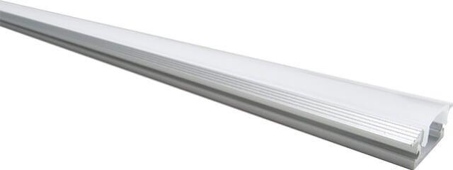 Profilul din aluminiu cu dispersor mat si cu lungimea de 100 cm, poate fi incastrat si a fost proiectat pentru a integra in mod estetic benzile LED cu alimentare la 12V. Acesta poate fi folosit pentru a oferi o lumina indirecta placuta sau pentru a pune in evidenta anumite elemente arhitecturale.