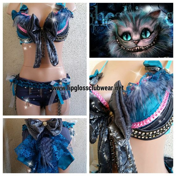 Chesire Cat inspired Rave Costume van LipglossWear op Etsy