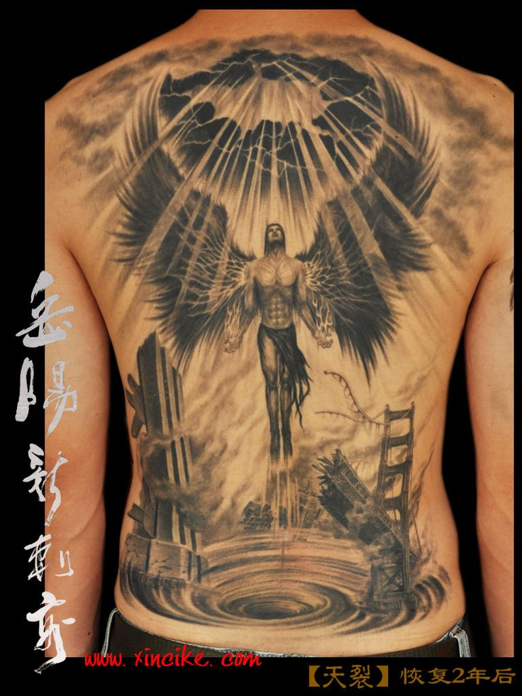 #YueHeng owner artist of #XincikeTattoo  Studio did this crazy back piece. He treats every job, every customer with his heart and soul.