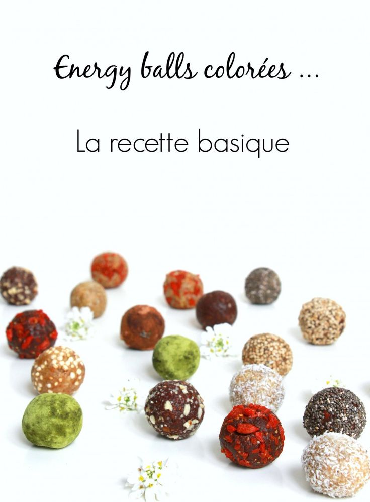 Energy balls colorées