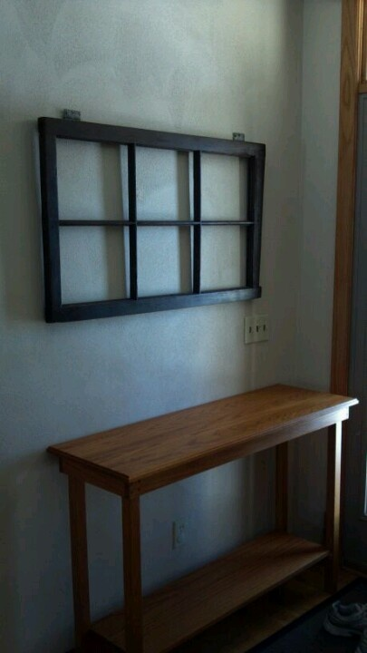 My next project. Refinishing an old barn window. Getting the window today. This pic is Ashley's finished results.