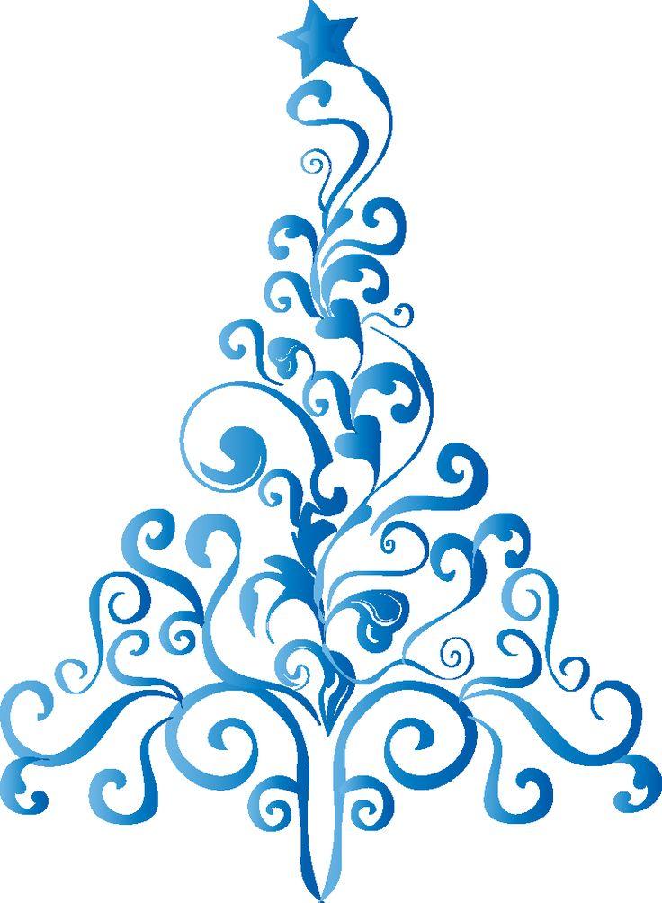 Pinos de Navidad Árboles de Navidad en Color Azul Imágenes de ...