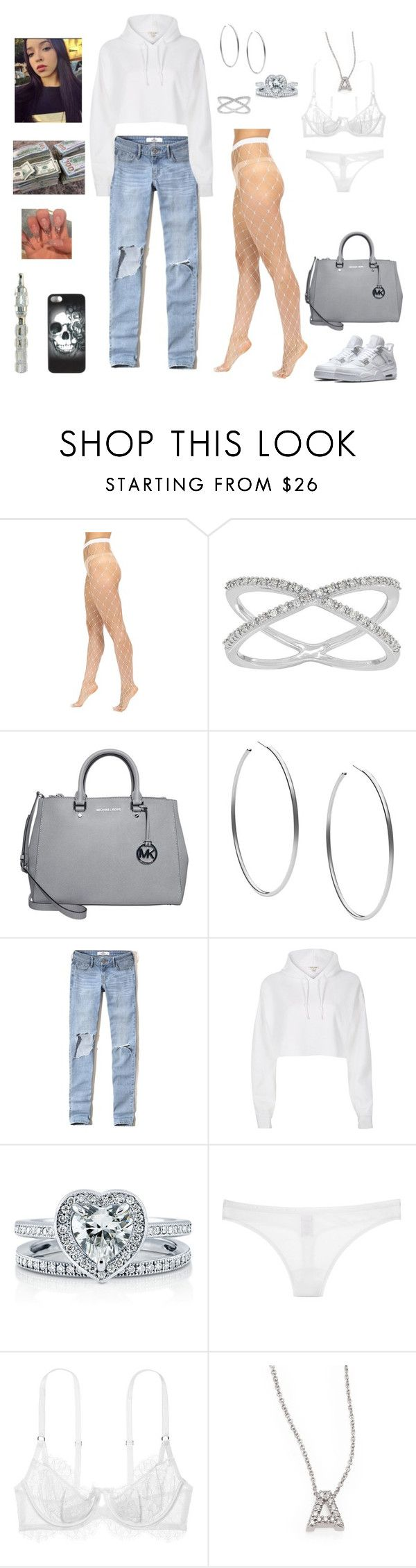 """j o r d a n s"" by whitneykay ❤ liked on Polyvore featuring Wolford, Lord & Taylor, MICHAEL Michael Kors, Michael Kors, Hollister Co., River Island, BERRICLE, Victoria's Secret, Roberto Coin and Metal Mulisha"