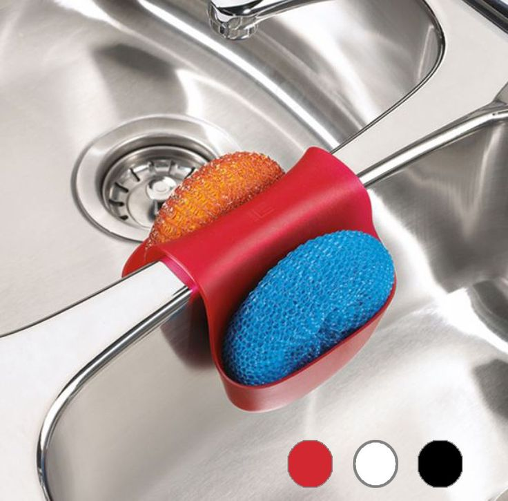 Kitchen sink caddy helps you organize the sponges keep them tidy, dry and clean. One size, fit on most kitchen sinks.