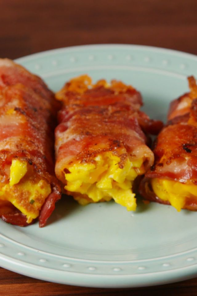 Bacon Egg and Cheese Roll-Ups  - Delish.com
