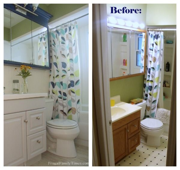 DIY bathroom vanity makeover from Frugal Family Times.
