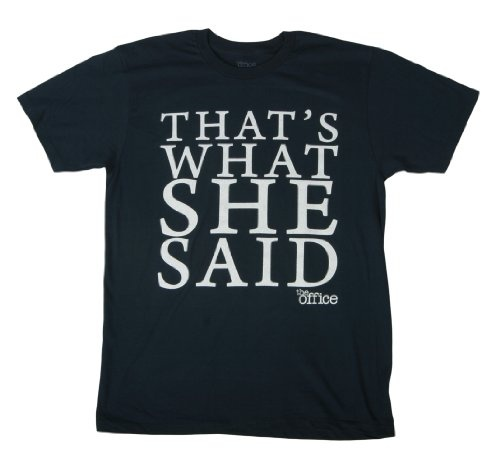The Office Michael Scott Thats What She Said T-Shirt Tee Select Shirt Size: Large