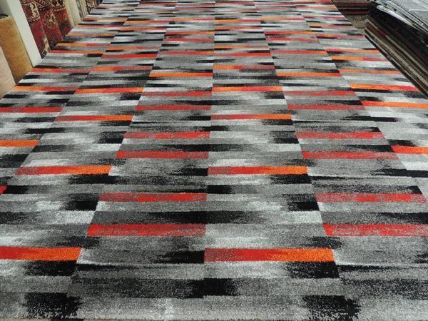 Red And Orange Modern Turkish Rug Size: 240 x 330cm
