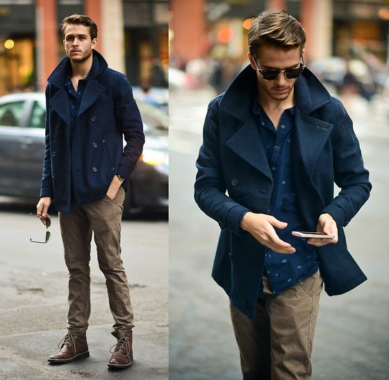 17 Best images about Men's Peacoat Style on Pinterest | Cuffed ...
