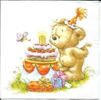 День рождения Мишки - ДЕКУПАЖ