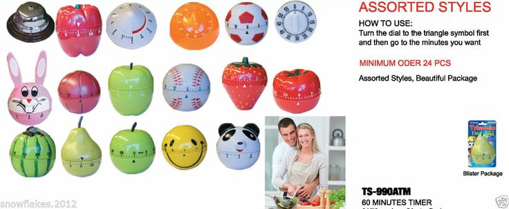 Mechanical Home Kitchen Cooking Timer Tools Timer Countdown Reminder 60 Mins http://stores.ebay.com/timesquare-ny?_rdc=1