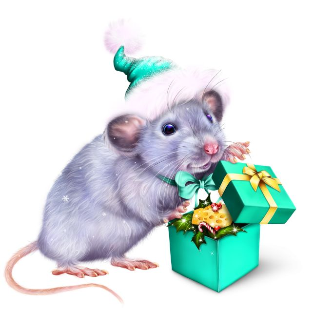 Год мыши картинки новогодние, открытка днем рождения
