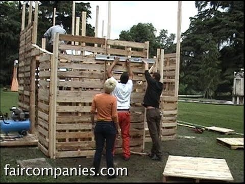 Watch: Recycled Pallet House Self-Assembled for $500 to $3000 - Can I make an outdoor craft space this way? Hmmm.... Spring project!