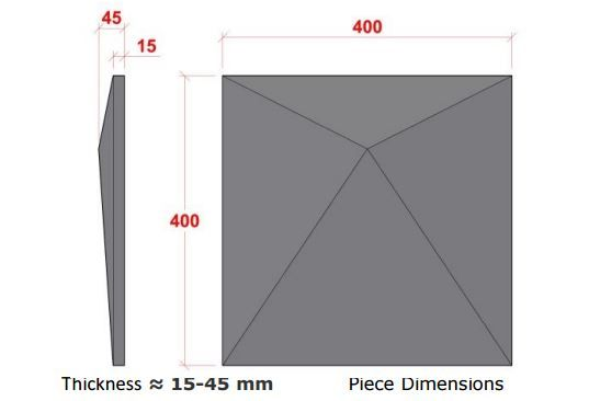 PRISMA 3D обшивка стен by A Cimenteira Do Louro