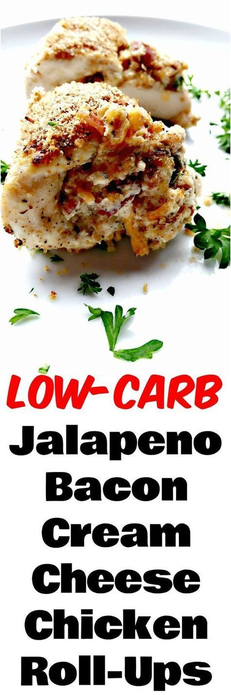 Low-Carb Jalapeno Bacon Cream Cheese Chicken Poppers is a keto roll-ups recipe with zesty lime, breadcrumbs and savory, crunchy bacon and lots of spice. #LowCarb #LowCarbRecipes #Keto #KetoRecipes #ChickenRecipes #SpicyRecipes #HealthyRecipes #Healthy