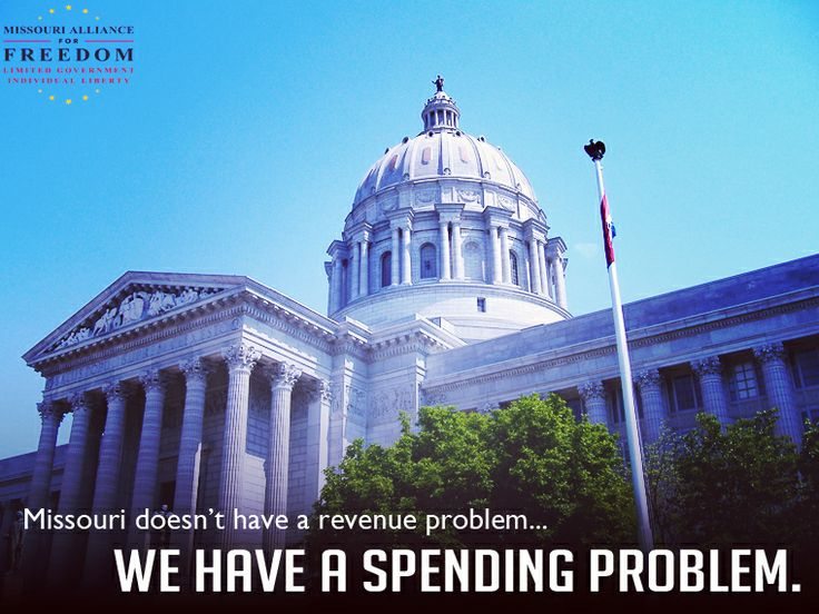 Missouri spends too much. We support a legislative solution that Constitutionally limits the rate of spending growth. We need a spending cap.