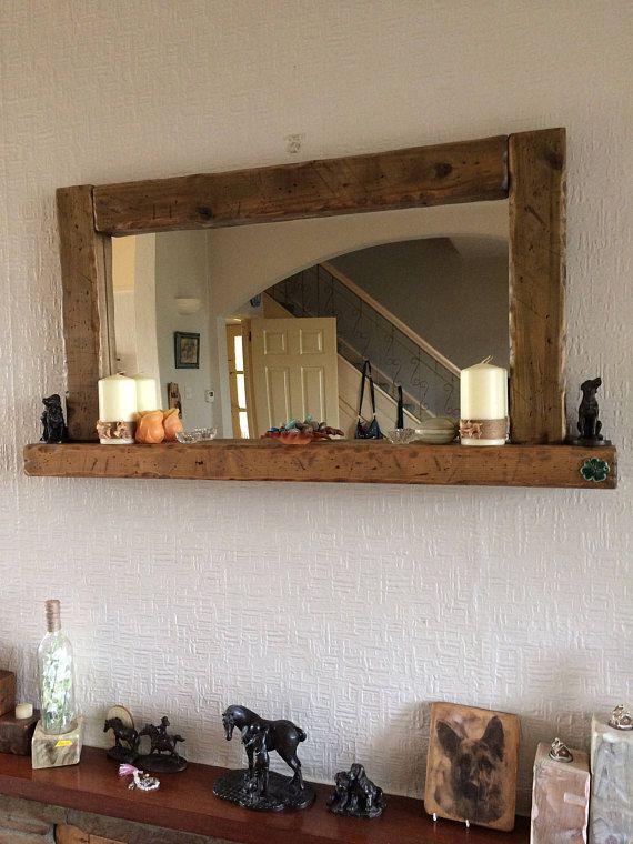 Large Candle Shelf Mirror Large Mirror Large Shelf Mirror Etsy Mirror Wall Living Room Candle Shelf Large Mirror #oversized #mirror #living #room