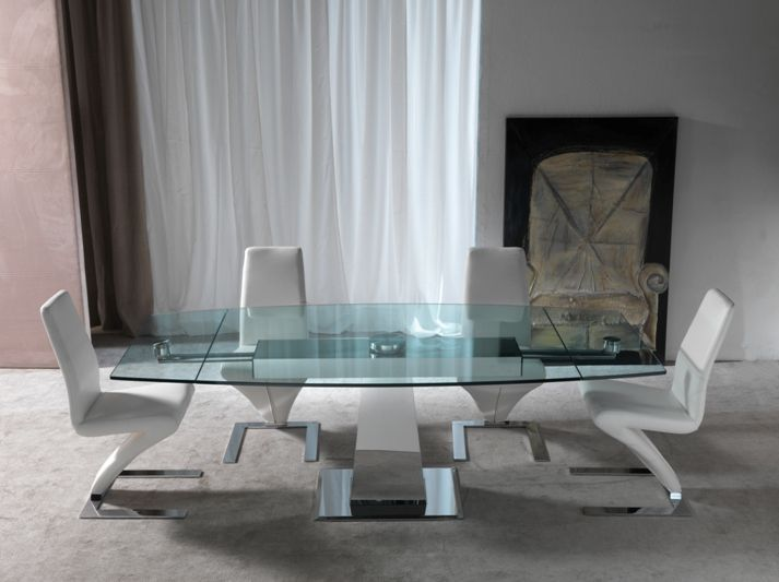 Tavolo enterprise 658 tavoli cristallo allungabili