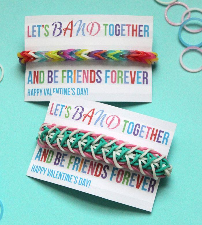Free Rainbow Loom Valentine's Day printable!