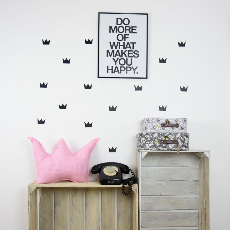 Crown Wall Decal -Set of 50- Crowns Wall Decals, Wall Decals, Crown Decal, Crown Stickers, Nursery Wall Decal, Wall Stickers, Pattern Decal by MamaPotrafi on Etsy