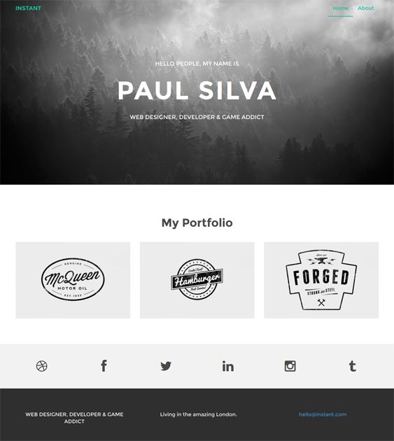 This free simple Drupal theme features a responsive layout, a Bootstrap framework, social media icons, a portfolio page, cross-browser compatibility, and more.