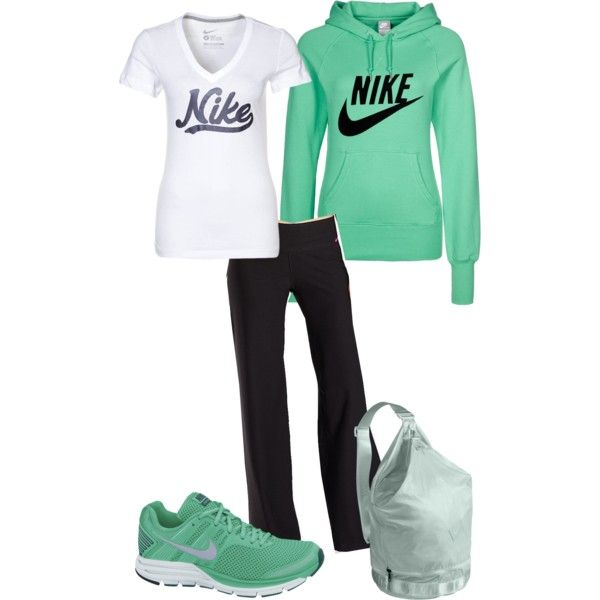 Nike - Mint Green by angiejane on Polyvore featuring polyvore, fashion, style, NIKE and clothing