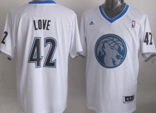Minnesota Timberwolves #42 Kevin Love Revolution 30 Swingman 2013 Christmas Day White Jersey
