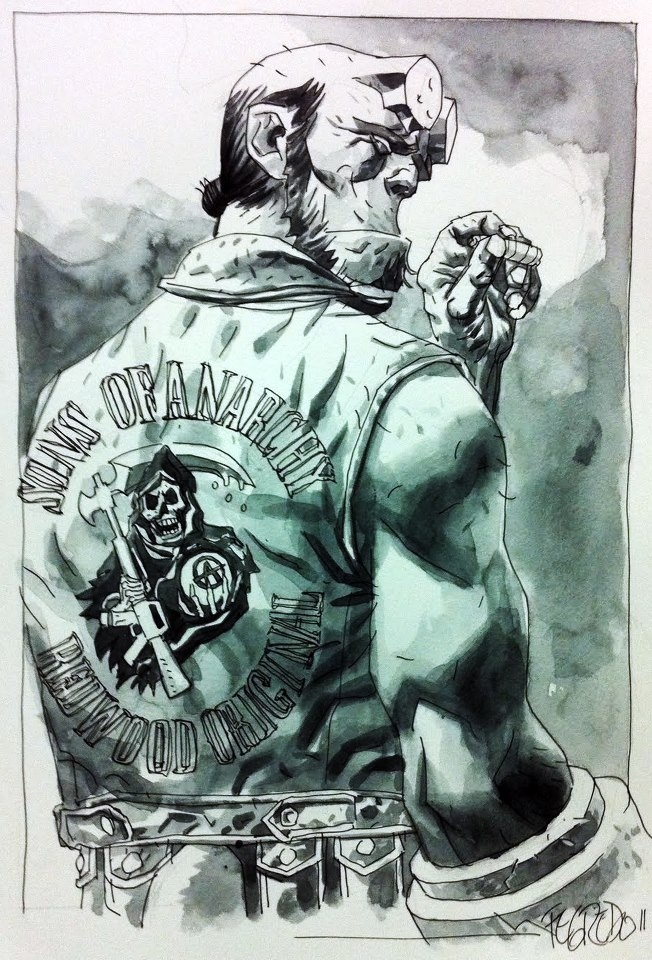 Hellboy + Sons of Anarchy = Ron Perlman