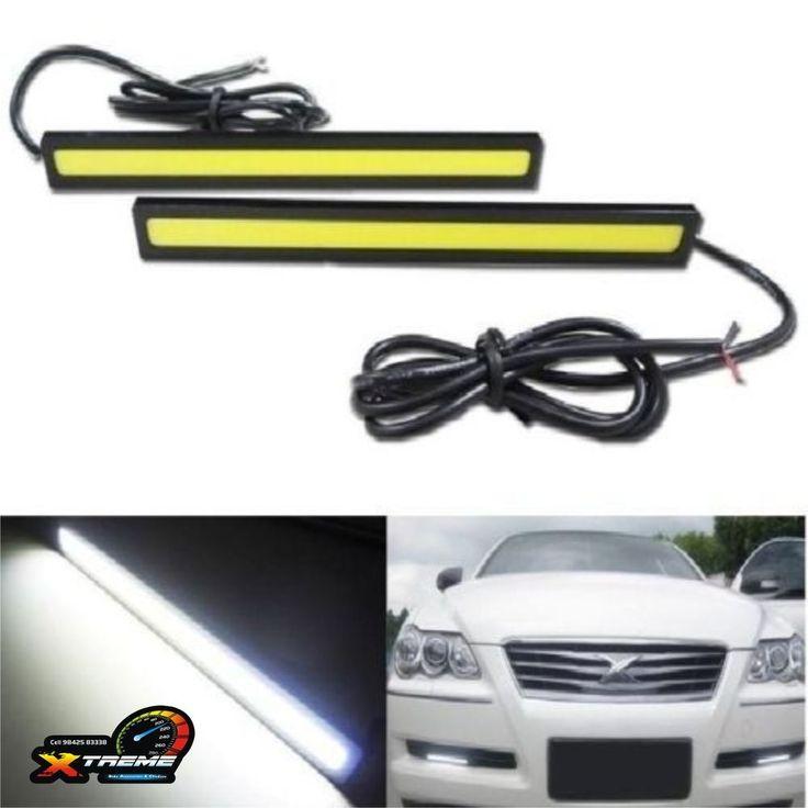COB Car DRL Universal Daytime Running Light / Fog Lamp WaterProof - 2 PSC