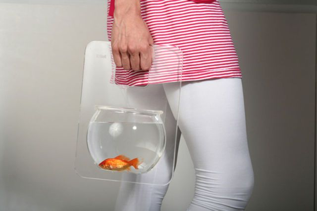portable fishtank, so you can take your fish for a walk. This is real.