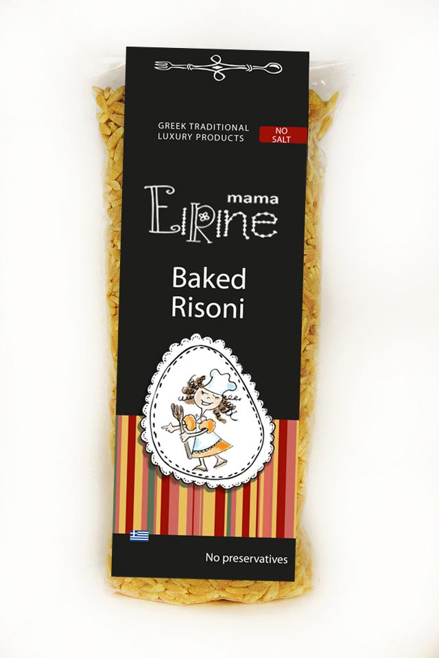 TRADITIONAL HANDMADE BAKED RIZONI(ORZO)  Ingredients: semolina, durum flour, no salt, no preservations  Braise over, low heat in the oven