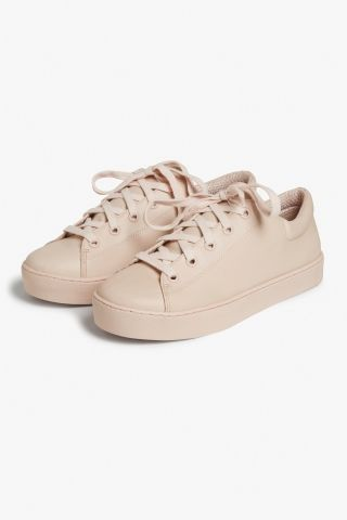 Monki Lace-up sneakers  in Orange Reddish Light