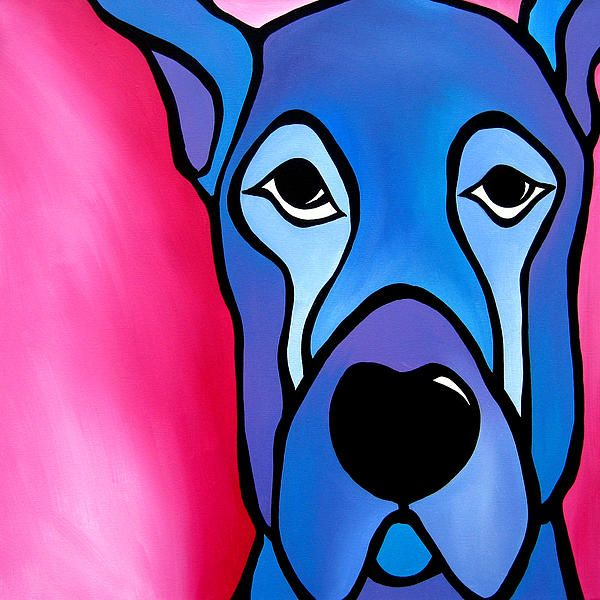 35 best art dogs images on pinterest dog art doggies for Cute abstract art