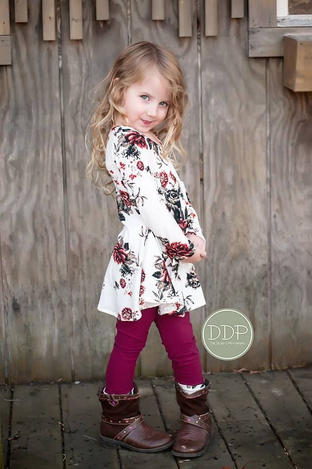 Girl's Sweetie Tunic and Dress PDF Sewing Pattern by Ellie and Mac #sweetiedress #ellieandmacpatterns