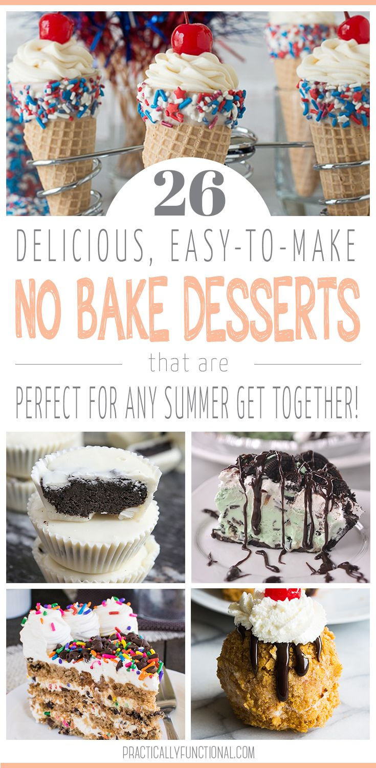 Too hot to turn on the oven? These no bake desserts are perfect for summer! Delicious, easy to make, and no oven required!
