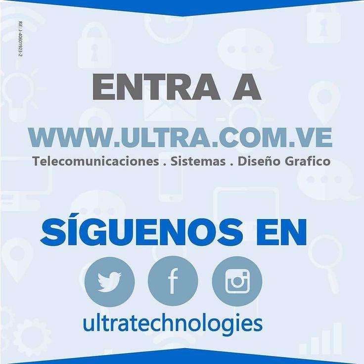 Entra a nuestro sitio web ULTRA.COM.VE y entérate de todo lo que traemos para ti y tu empresa. Escribe a nuestro correo electrónico sería un gusto poder servirte -  Soluciones de vanguardia a nivel tecnológico!!!.  #ultratechnologies #venezuela #geek  #nerd #computer #linux #latinoamerica #telecomunicaciones #sistema #graphicdesign #sitio #windows #mac #maracaibo #web #informatica #programation #mikrotik by ultratechnologies