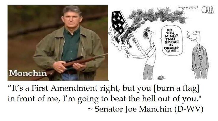 Senator Joe Manchin on Flag Burning