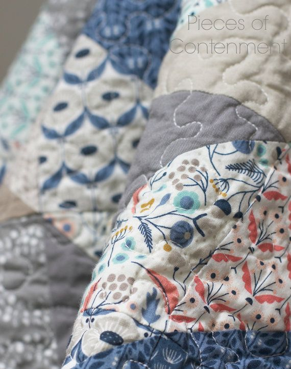 Wildwood Organic Quilt by Pieces of Contentment on Etsy