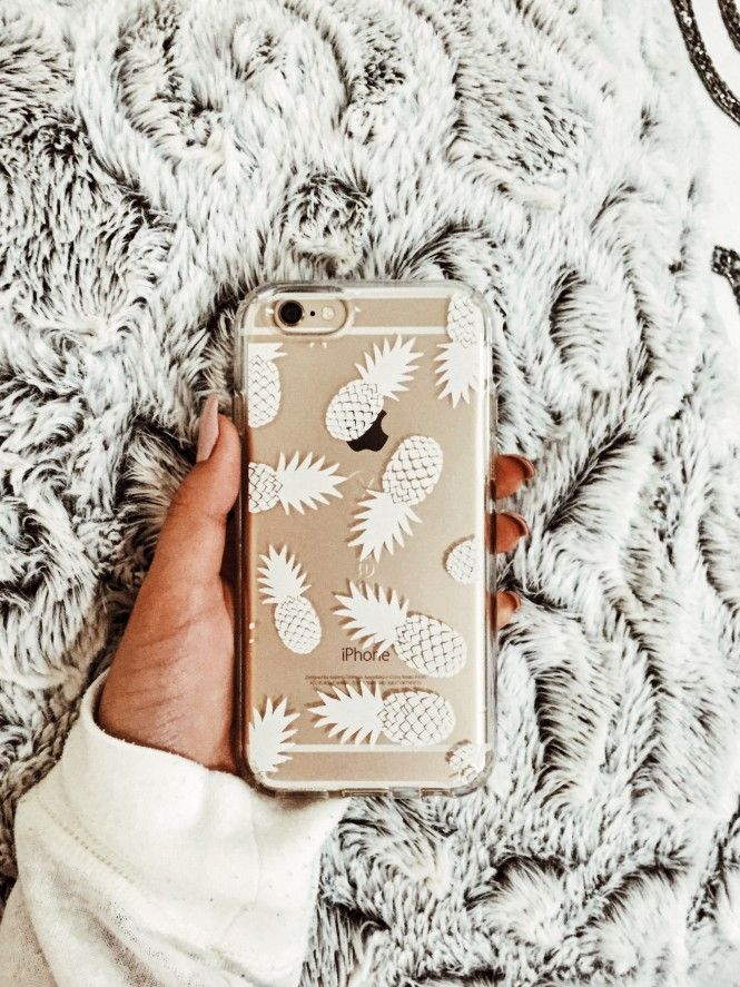 White Pineapples iPhone 6/6s Speck CandyShell Clear Case