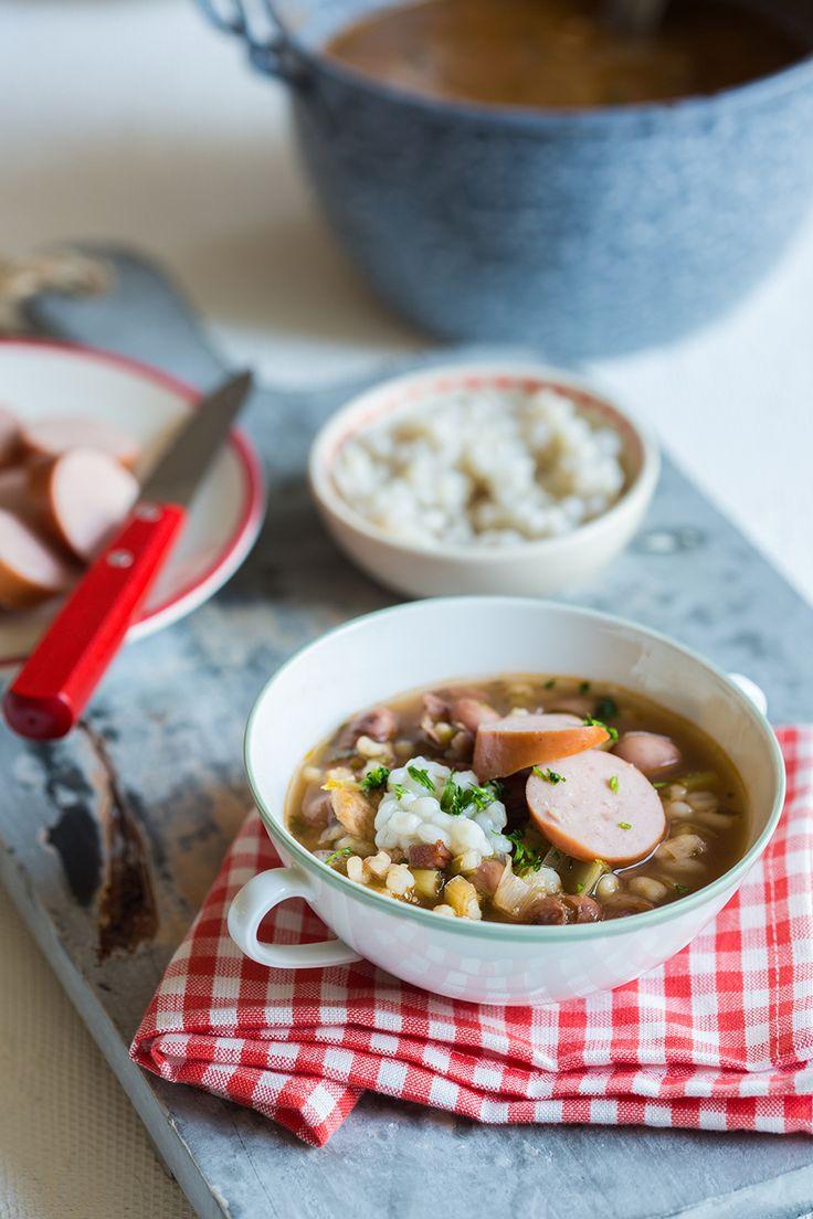 Bruinebonensoep van mijn moeder. Recept van Joke Boon #bruinebonen #soep #recept