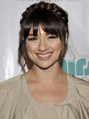 Teen Wolf star Crystal Reed looks angelic with this beautiful halo-braid! #VisibleChangesSalons love it!